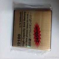 Wholesale Gold Battery Galaxy S2 - Excellent Quality High Capacity Gold Batteries Replacement Battery For Samsung i9100 GALAXY SII S2 2450mAh 3.7V 15 country and US epacket