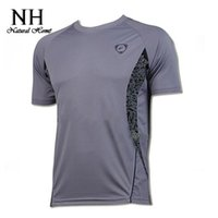 Wholesale Wholesale Outdoors Clothes For Men - Wholesale-4 colors o-neck male Quick Dry T shirts for mens outdoor sport Summer Tops Fit casual clothes new top selling