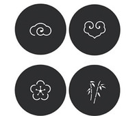 japan wohnkultur großhandel-Felt Coaster Cup Matten Cartoon Pad Stoff Tasse Becher Matte Kaffee Tee Halter Home Decor