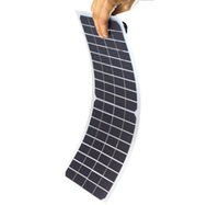 Wholesale Flexible Solar Panels For Boats - 2pcs 10W 18V Semi-Flexible Transparent Solar Cell Panel PET Solar Cell with DC Output and Alligator Clip for Solar Project