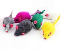 kaninchen spielen großhandel-Kaninchenfell Falsche Maus Haustier Katze Spielzeug Mini Lustige Spielen Spielzeug Für Katzen Kätzchen G1047