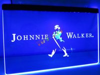 Wholesale Johnnie Neon Signs - LE082- Johnnie Walker Whiskey Wine Bar Neon Light Signs.