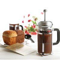 Wholesale Wholesale Tea Press - DHL Free Shipping French press coffee and tea maker French filter coffee press plunger with stainless steel filter portable