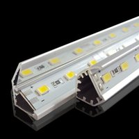 Wholesale Light Bar 12 - SMD 5730 led bar light 12 volt led light 36LEDs 0.5M 72LEDs 1M 144LEDs 2M led hard strip With V-shaped Aluminum channel Warm Cool Pure White