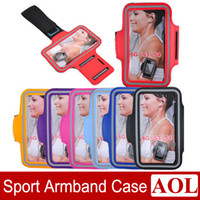 Wholesale S4 Waterproof Cases - Universal Sport ArmBand Leather Case Solf Belt Arm Band Waterproof For iPhone 6   6 plus Samsung S3 S4 Note3 Note4