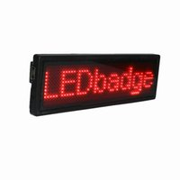 Wholesale LED Display Board LED Message Board For Attraction Red Characters Acrylic Materials Best LED Products Support English And Chinese B1248R