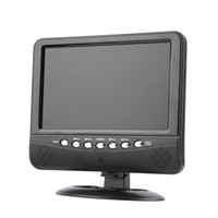 mini monitor lcd digital venda por atacado-9.5 polegada Portátil LCD Color TV Analógica Mini Digital TFT Móvel Monitor de TV Controle Remoto Suporte SD / MMC AVI / MP3