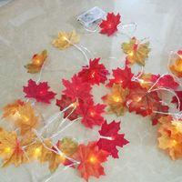 Wholesale Leaf Light String - Novelty Maple Leaf Fairy Garland Led Light 5m Fashion Holiday String Light Wedding Supplies Home Garden Decoration Wreaths