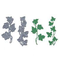 ganchos de ganchos frete grátis venda por atacado-2 pçs / set nova flor árvore de aço carbono personalizado morrendo morre scrapbooking embossing morre corte stencils diy cartões decorativos q171128