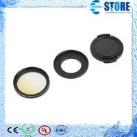 Wholesale Wholesale Circular Polarizing Filter Lens - 37MM Professional Gradient Color Circular Polarizing UV+CPL+FLD Lens Filter+Lens Cap+Len Hood for GoPro Hero 3 3+