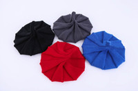 yılbaşı şapka oğlan toptan satış-Kış Sıcak Örme Şapkalar Çocuk Çocuk Erkek Kız Katı Renkli Tığ Tine Sivri Sivri Açık Havada Kapaklar Noel Hediyesi