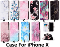 Wholesale Images Leather - Granite Scrub Marble Stone image Flip Leather TPU Cover Case For Huawei Iphone x 8 8plus 7 7plus Samsung S8 Note 8 S7 S7 edge