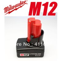 Wholesale 2014 Direct Selling Sale Freeshipping Piece Milwaukee M12 Battery Xc Red Lithium ion Cordless Tool High Capacity order lt no tr