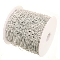 Wholesale Cable Chain Bracelets - Wholesale-100m in Bulk Plated Silver Cable Chain Findings for Necklace Bracelets Jewelry Making