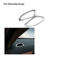 Wholesale Chevrolet Car Stickers - Free shipping for Chevrolet Cruze accessories Stainless steel Ring Chrom trim carbon fiber outlet decoration car stickers