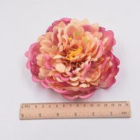 Wholesale Brides Slippers - 10pcs 14cm Silk Artificial Flower Peony Flower Diy Home Decor Hairpin Flower Arrangement Movie Tv Show Hair Ornament Slippers