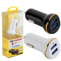 Wholesale auto power adaptor - car charger Dual usb ports 3.1A Auto power adapter car charger adaptor for ipad iphone 7 8 Samsung s7 s8 android phone With Retail Box