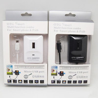 Wholesale Function Smart Card Readers - NEW 5 in one USB Hub Card Reader SDHC Micro SD OTG Multi Function Smart COMBO For SAMSUNG Galaxy computer