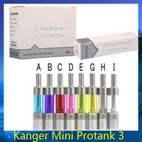 Wholesale Bottom Coils Kanger Pro - Kanger Mini Protank 3 Clearomizer Mini Pro 3 Bottom Dual Coil Tank Pyrex Glass Atomizer vs aerotank ET ET-S BDC Nautilus 0203117 -1
