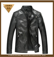 Stand Collar sport motorcycles for sale cheap - mens jacket winter autumn casual sports leather waterproof black red flight motorcycle jacket faux fur cheap for sale online