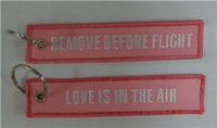 Wholesale Remove Motorcycle Chain - Remove Before Flight Love Is In The Air Aviation Luggage Motorcycle Pilot Key Chain 13 x 2.8cm 100pcs lot
