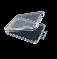 Wholesale memory plastic resale online - Protection Case Card Container Memory Card Boxs CF Card Organizer Tool Plastic Transparent Storage Easy To Carry nt
