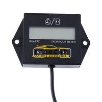 medidor atv venda por atacado-Motocicleta LCD Digital Tachometer Hour Medidor Medidor 12v faísca tempos motor para Motorcycle Racing / carro / bicicleta / ATV