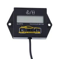 rennlehren großhandel-Motorrad LCD Digital Tachometer Betriebsstundenzähler Spur 12 v Hub Motor Funken für Racing Motorrad / Auto / Bike / ATV