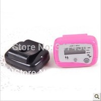 Wholesale Electronic Multifunction Counter - Wholesale-Multifunction LED electronic pedometer step counter with calorie counter portable mile run double