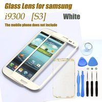 Großhandels-Original White Outer Touch Screen Top Glass für Samsung Galaxy S3 SIII i9300 i535 L710 I747 T999 + 8Tools + Free Adhesives