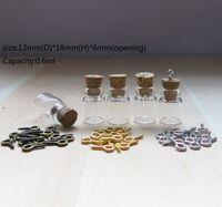 Wholesale Mini Eye Glasses - Free Shipping -100 lot 0.6ml Small Glass Bottle with Eye Hook,1ML Mini Corked Bottle,0.5ml,0.6ml,1.5ml,2ml,2.5ml3ml is available