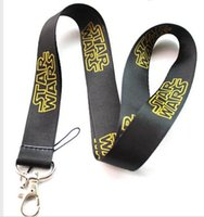 Wholesale Star Mobile Phones - Free shipping Lot 10pcs lot Animation Star Wars Mobile Phone lanyard Key chain straps charms Wholesale
