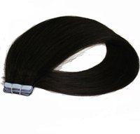 Wholesale brazilian human hair 18 5a online - grade A Brazilian Human PU EMY Tape Skin Hair Extensions g g pack jet black DHL FREE shpping