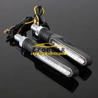 Wholesale Motorcycle Led Light Indicators - Universal 12 LED Motorcycle Turn Signals Lights Motorbike Indicator Blinkers Amber Light Lamp 12v Motorcycle Lights Parts Bendable
