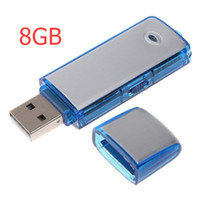 Wholesale F Recorder - Free shipping DHL post Factory Price 2 in 1 Mini 8GB USB 2.0 Digital Audio Voice Recorder(f)