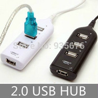 Wholesale Wholesale Usb Sharing Switch - Wholesale-Mini Pcs USB 2.0 High Speed 4-Port 4 port usb charger Sharing Switch For Laptop PC Notebook Computer, Black White Free shipping
