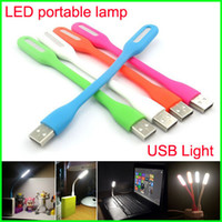 Wholesale Emergency Mini Lights Bar - Portable USB LED Light Bendable Mini Emergency Bar Light 1.2W USB LED Portable Lamp 5V for Computer Laptop power bank Notebook