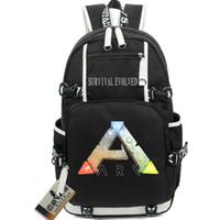 Wholesale Cool Canvas Backpacks - ARK Survival Evolved backpack Cool school bag Hot sale daypack Game schoolbag Outdoor rucksack Sport day pack