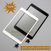 Wholesale Ipad Mini Digitizer Flex - Wholesale-Brand New Digitizer Touch Screen with IC Connector & HOME FLEX Assembly black and withe for iPad mini free shipping