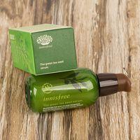 Wholesale Green Bottle Lotion - INNISFREE Cream Korea brand Green Bottle CREAM INNISFREE THE Green Tea Seed Serum Moisturizing Face Care Lotion 80ML DHL