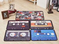 Wholesale Colorful Floor Mats - 40*60cm 50*80cm Retro Nostalgia Tape Colorful Mats Anti-slip Carpet Floor Mat Outdoor Rugs tape front door retro home entrance doormat