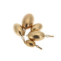 Wholesale 5Pcs g g g g g Olive Shape Copper Fishing Sinkers Fishing Tool Accessories Set