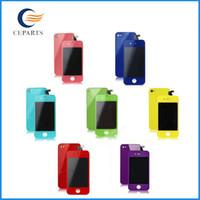 iphone 4s tam ekran değiştirme toptan satış-Kaliteli Toptan fiyat Mix Renk iphone 4 4 S CDMA LCD Ekran Değiştirme Dokunmatik Ekran Digitizer Tam Meclisi
