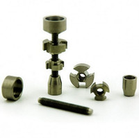 Wholesale Adjustable Ring Nail - 1pcs Fully Adjustable GR2 Titanium Nail 14-18mm Dual Ring
