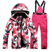 paint snowboard - painting new fashion women winter warm breathable coats women ski clothing snowboard jacket waterproof windproof