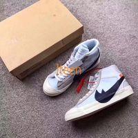 Wholesale Medium Blazer - The Ten:2017 Off White X Blazer MID OW Running Shoes Mens Fashion Sport Skateboard High White Black virgil abloh Limited Sneakers 40-46