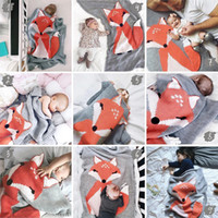 Wholesale korean quilt for sale - Group buy Baby Blanket Newborn Fox Knitting Blanket Bedding Quilt For Bed Sofa Blanket Newborn Photography Props CM