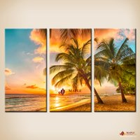 Wholesale Large Decorative Picture - Unframed 3 pieces wall print decorative pictures home painting canvas prints canvas art cheap wall art large wall pictures for living room