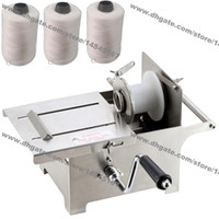 Wholesale roll steel machine - Free Shipping 32mm 42mm Stainless Steel Hand Rolling Sausage Stuffer Machine Sausage Tying Machine Sausage Knotting Machine with 3pcs Twine