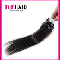 Indian Loop Micro Ring Hair Extensions Natural Black 100% Cabelo Humano Straight Weave Micro Ring Loop Hair Extensions
